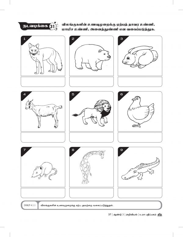 Science Work Book Year 3 Inner Pages – 2018-39