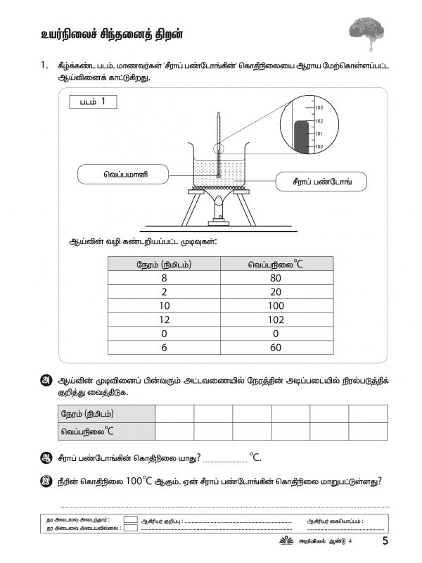 Pages from Science Workbook Year 4 Inner Pages – 2019-2